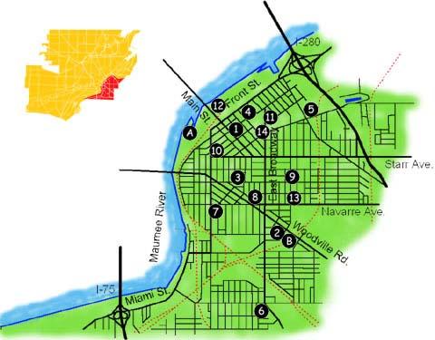 East Toledo Neighborhood Map